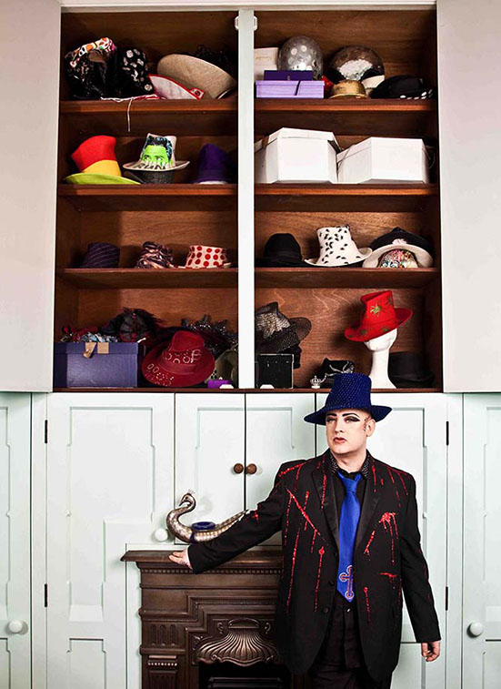 Boy George at homePhotographed by Lorna Roach
